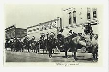 Cheyenne WYOMING RP 1912 SIOUX INDIANS Indian Parade FRONTIER DAYS F.S. Johnston
