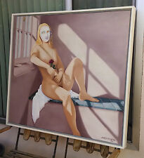Stunning Large JAMES ROGERS Original Nude Painting, 1984