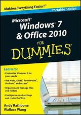 New WINDOWS 7 & OFFICE 2010 FOR DUMMIES WITH 2 DVDS BUNDLE PORTABLE EDITION