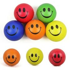 New Baby Kids Strength Training Ball Smile Face Sponge Stress Relief  Grip Toys