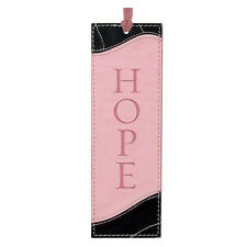 HOPE Pink & Black Faux Leather Bookmark Page Marker Christian Art Gifts
