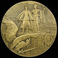 1916 World War 1 French Medal Charles Pillet The Heroes of  Verdun Bronze 68 mm