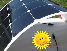 50W Flexible Sunpower Solar Panel Motorhome Caravan RV Boat Yacht Marin 2m Cable