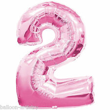 Giant Pink Supershape Number Balloon - 2