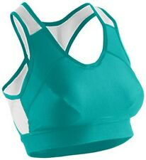 SUGOI RSR Bra Womens Medium Support Gym Run Yoga Cycling Racer Back Ocean Green