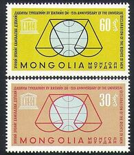 Mongolia 1963 UN/UNESCO/Human Rights/Scales 2v set (n34903)