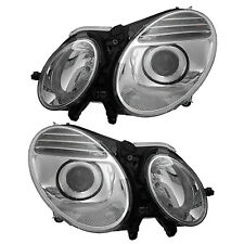 07-09 MERCEDES-BENZ E-CLASS W211 HEADLIGHTS FRONT LAMPS PAIR SET
