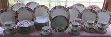 62 PCS REED & BARTON ELEGANT TABLE KATRINA PAT SPRING FLORAL DINNER SET +SERV PC