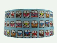 1 Metre VW Campervan Grosgrain ribbon 16mm Crafts/Party/Cake/Hair/Bows/Gift
