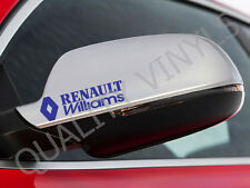 MW61 CLIO RENAULT WILLIAMS SPORT GT RS REAR VIEW MIRROR GRAPHICS STICKERS