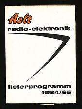 Arlt radio elektronik Hauptprogramm Lieferprogramm 1964 / 65 Röhren Dioden