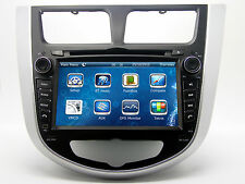 "7"" Touch Screen Stereo Car Radio CD DVD Player GPS Navigation For Hyundai Accent"