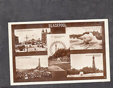 Multiviews of Blackpool, Stamp (1d Red, Postal Union Congress)& Postmark 1929