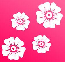 Auto Aufkleber Hibiskus Blumen Schmetterlinge HAWAII WANDTATTOO 4 ü Wandsticker