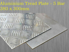 Aluminium Checker Plate Treadplate Sheet 5 Bar 380mm x 300mm x 2mm