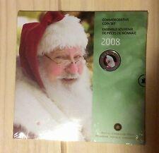 2008 Canada 25 Cents Coloured Coin - Santa Claus - Holiday - 7 Coins Set