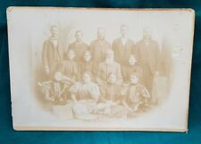 """Antique Photograph; J.H. Farmer; Late 1800's Family of 13 Approx 10"""" x 7""""; Sepia"""