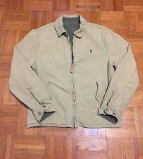 Polo Ralph Lauren Men`s Small Beige Green Reversible Zipper Jacket
