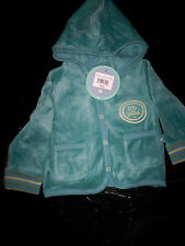 "NWT! $30 LIFE IS GOOD ""BABY HUGGABLE"" FLEECE HOODED JACKET-TURQUOISE-3-6 MONTHS"