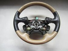 04 Land Rover Freelander Black & Beige Steering Wheel QTB000490SMS