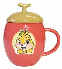 Disney Chip & Dale Acorn Mug Cup With Lid Clarice Cute Coffee & Tea Cup Gift ge