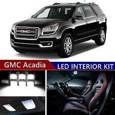 16pcs LED Xenon White Light Interior Package Kit for GMC Acadia 2007-2017