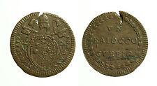 pcc1644_4) GUBBIO Pio VI (1775-1799) 1 Baiocco An XX - RARO