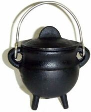 "3.5 "" Cast Iron Cauldron Incense Burner Charcoal POT BELLY ~ FREE PRIORITY SHIP"