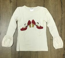 Persnickety sz 6 Shoes Applique top with puffer sleeves EUC