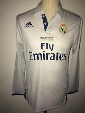 Sergio Ramos Real Madrid Supercup 2016 match worm issued shirt jersey Spain