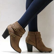 New Women SBt Black Brown Western Ankle Booties Riding Boots sz 6 to 11