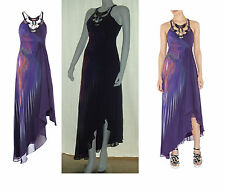 Limited Edition BNWT Karen Millen Purple Jeweled Evening dress 38/10