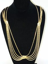RARE VINTAGE 80's CHRISTIAN DIOR GOLD PLATED STATEMENT BELT / NECKLACE