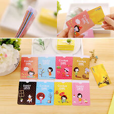 Cute Girls PVC ID Card Holder Oyster Card Business Card Case Badge Double Side