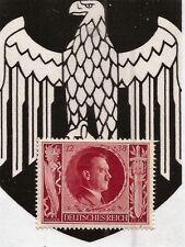1943 Nazi Germany 3rd Third Reich Hitler birthday stamp RED MNH