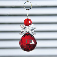 Red Crystal Ball Suncatcher Prisms Pendant Feng Shui Hanging Drop Home Decor