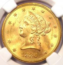 1880-S Liberty Gold Eagle ($10 Coin) - Ngc Ms63 - Rare in Ms63 - $2,300 Value!