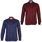 NEW MENS GABICCI VINTAGE LONG SLEEVE STRIPE PRINT COLLARED SHIRT TOP SIZE S-XXL