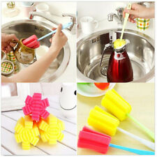 New Sponge Brush Bottle Cup Glass Washing Cleaning Kitchen Cleaner Tool