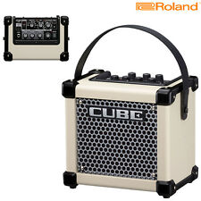 Roland Micro Cube GXW Battery Powered Guitar Amplifier White l Authorized Dealer
