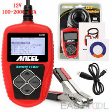 12V Car Battery Tester Analyzer for Flooded AGM GEL CCA DIN EN ANCEL BA101