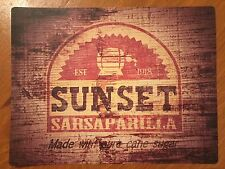 Tin Sign Vintage Fallout Sunset Sarsaparilla