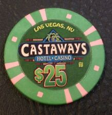 CASTAWAYS $25 CASINO CHIP LAS VEGAS NEVADA BJONES MOLD 2000 FREE SHIPPING