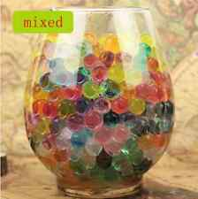 NEW 600pcs Mixing Crystal Soil Gel Jelly Ball Water Pearls Wedding Home Decor Y6