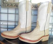 RIOS OF MERCEDES WINTER WHITE FULL QUILL OSTRICH COWBOY BOOTS 5D LADIES 6-6.5