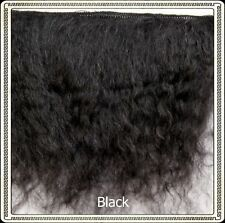 "Mohair Weft BLACK,  5"" - 6"" X 36""   Ideal for Reborn dolls"