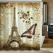Paris Eiffel Tower Waterproof Shower Curtain Home Bathroom Decor New Modern