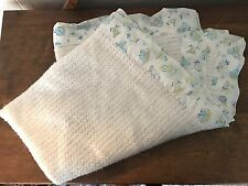 Vintage Carters Baby Blanket Waffle Weave Clown Circus Security Gender Neutral