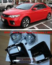 For KIA FORTE KOUP 2010 2011 2012 Fog Light Lamp+Cover+Wire 1SET Genuine Parts