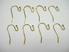 20 pair (40) gold plated Ear Wires ball end french hook